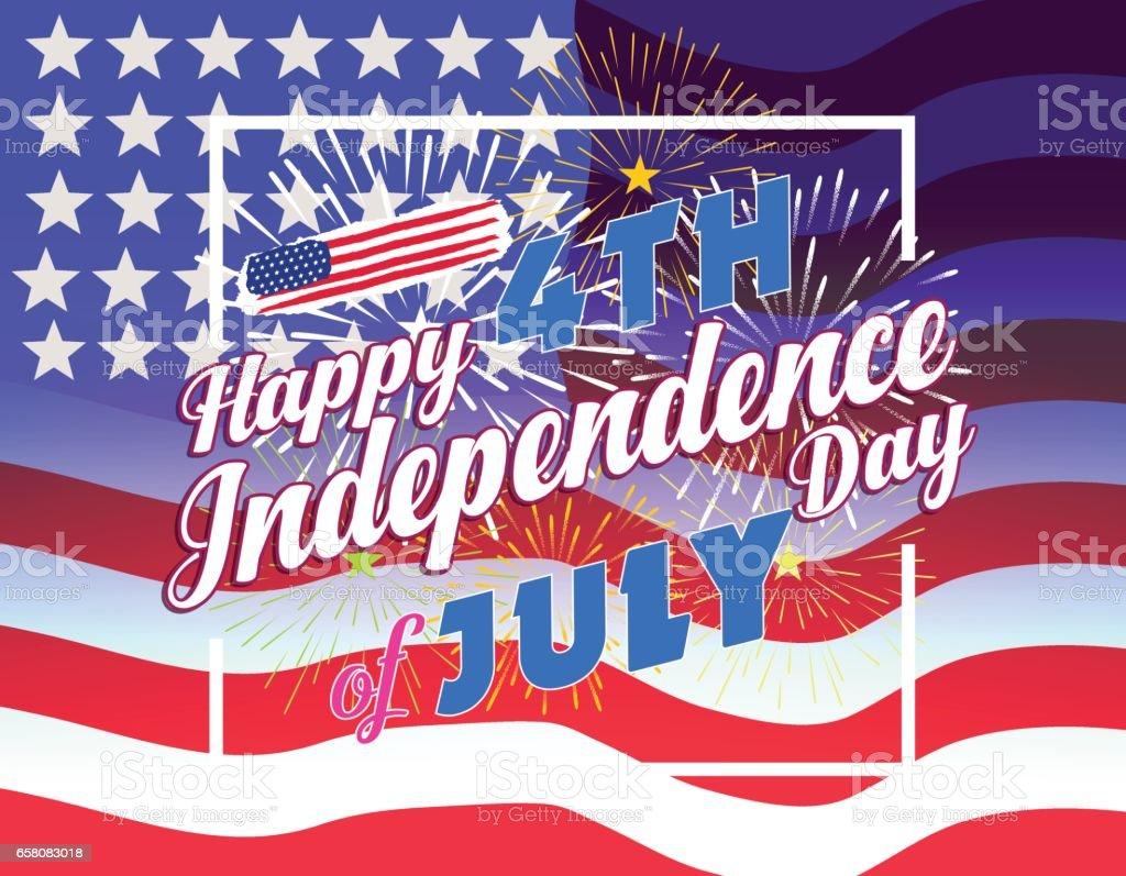 Fireworks Background For 4th Of July Stock Illustration - Download