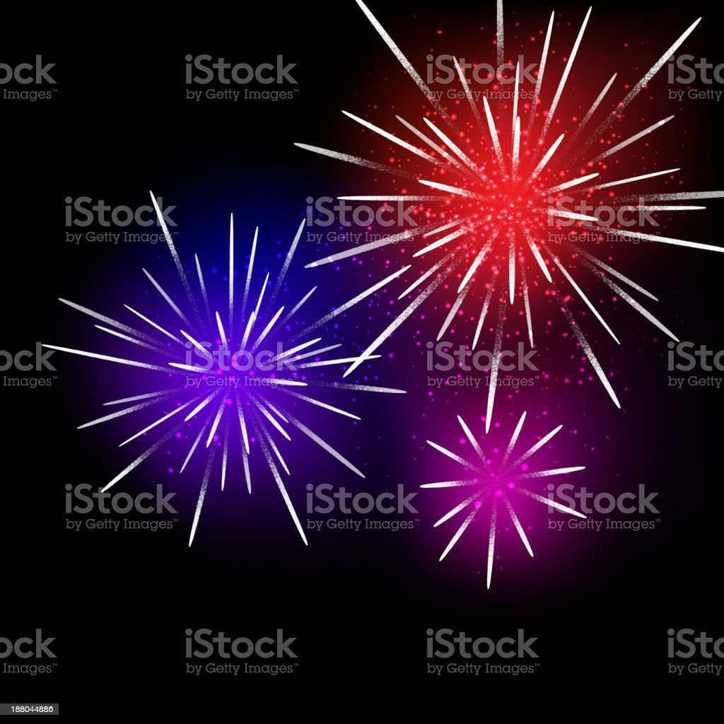 Fireworks Background royalty-free stock vector art
