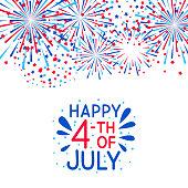 Fireworks border for Independence day design