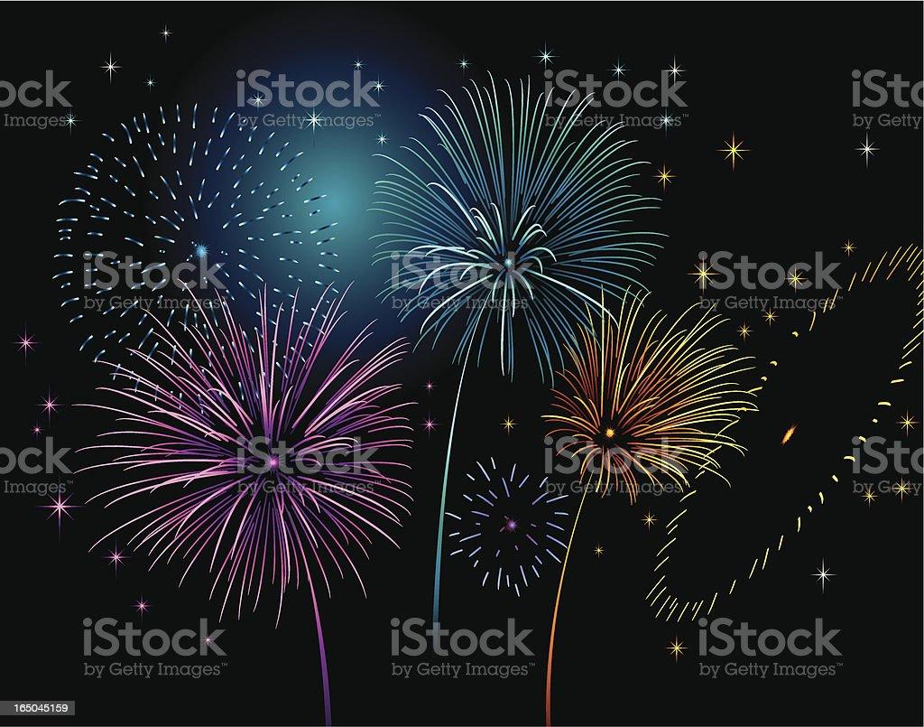 fireworks celebration royalty-free stock vector art