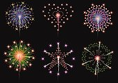 fireworks collection vector set