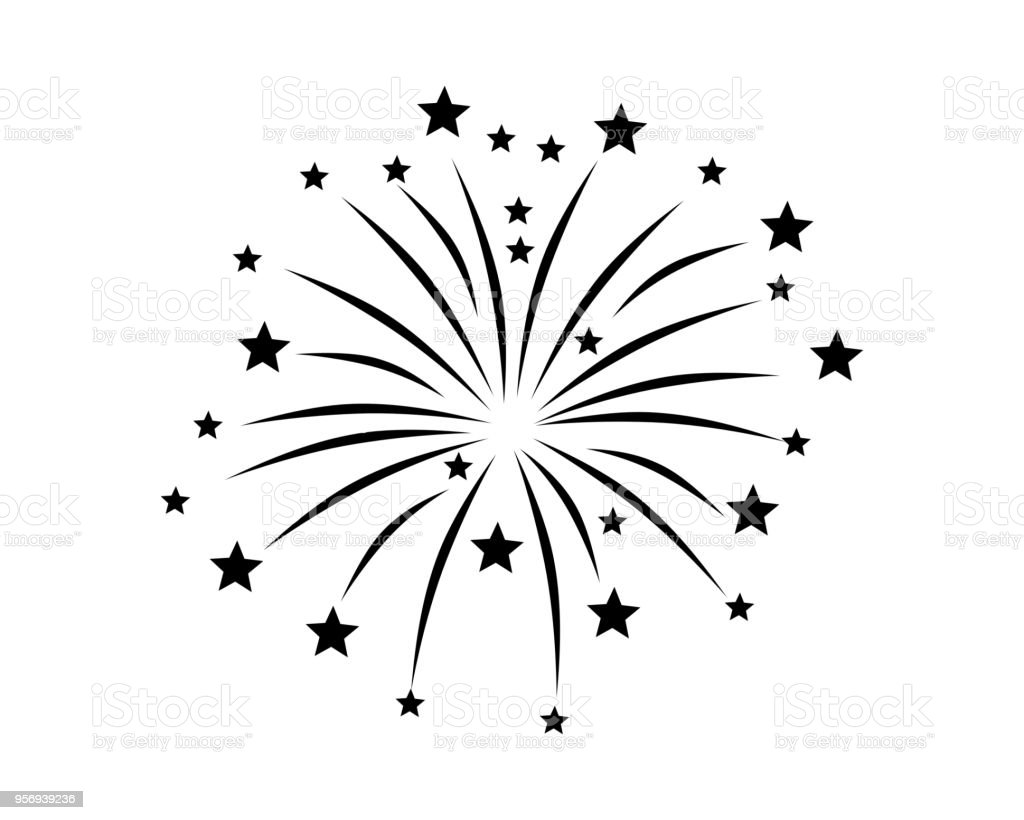 Fireworks display on white Fireworks display on white Bright stock vector