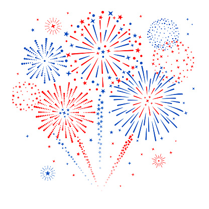 Fireworks Display stock illustration