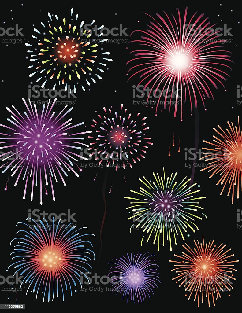 Fireworks display royalty-free fireworks display stock vector art & more images of celebration