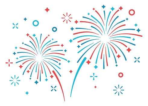 Fireworks display patriotic display.
