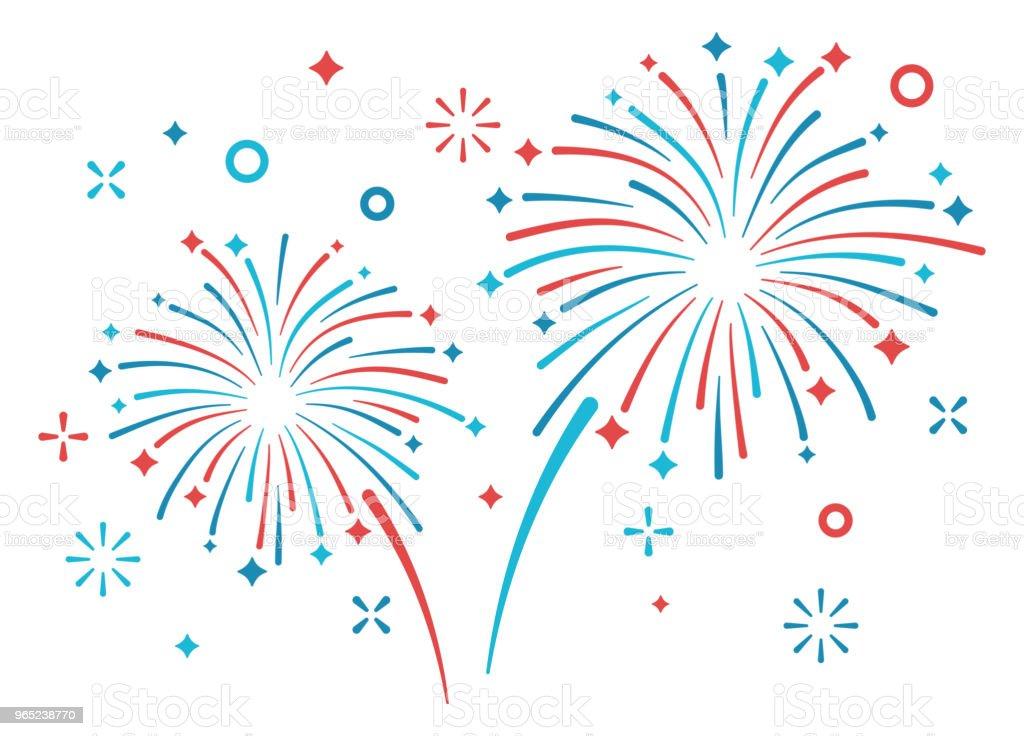 Fireworks Display vector art illustration