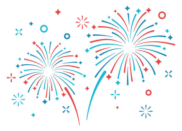 fireworks display - fireworks stock illustrations