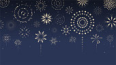 istock Fireworks, firecracker at night. Cartoon style. Vector illustration. 1226328578