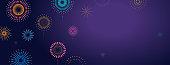 Fireworks, firecracker at night, celebration background, winner, victory poster, banner - a vector illustration