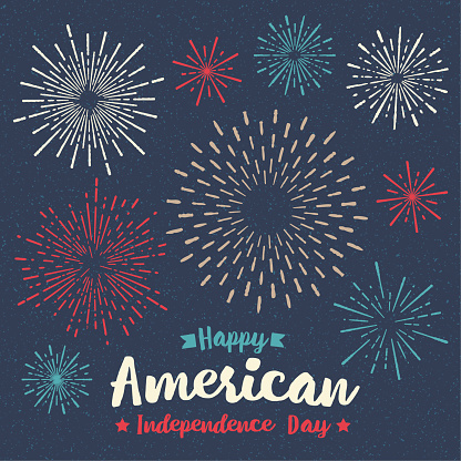 Fireworks Fourth of July Holiday Greeting Card