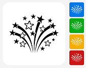 Fireworks Icon Flat Graphic Design