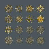 Fireworks icon,vector illustration. EPS 10.