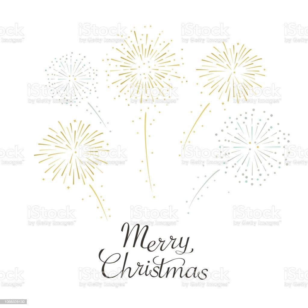 Fireworks illustration for christmas Vector illustration Backgrounds stock vector