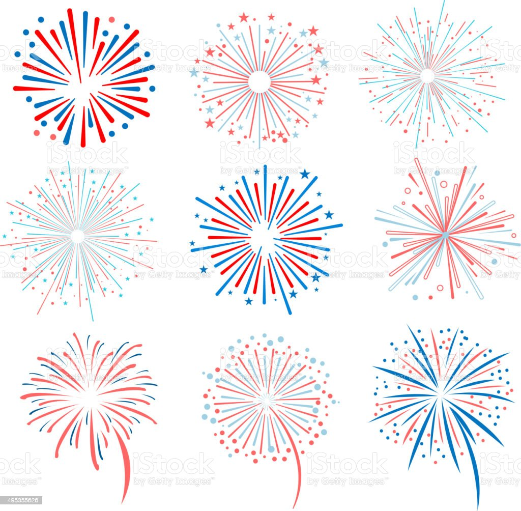 Fireworks illustration vector art illustration