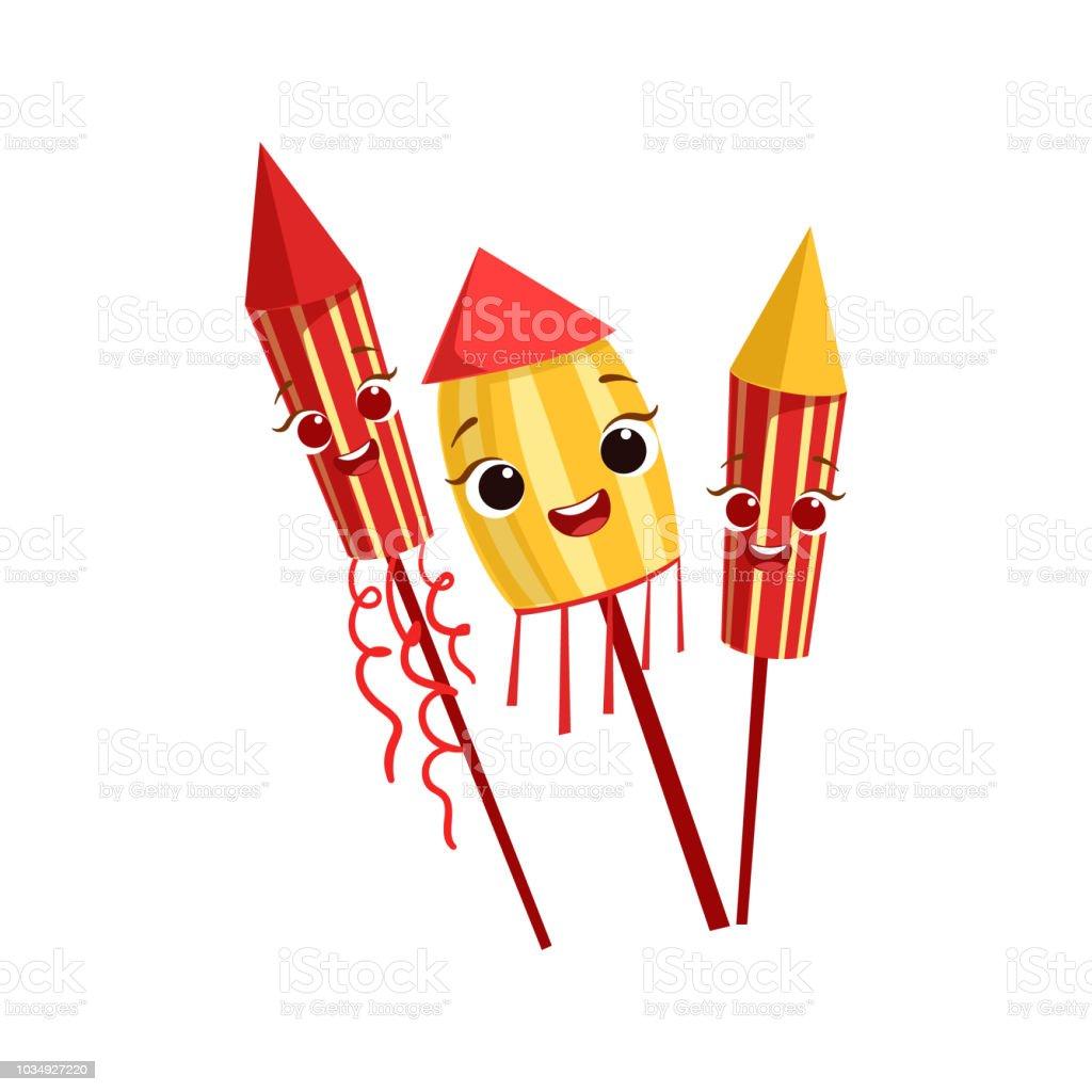Ilustracion De Fuegos Artificiales Ninos Cumpleanos Fiesta Feliz