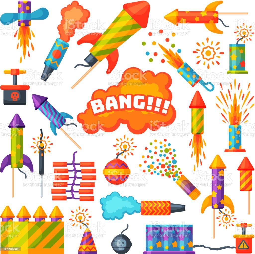花火花火ロケットとフラッパー誕生日パーティー ギフトはシームレスな