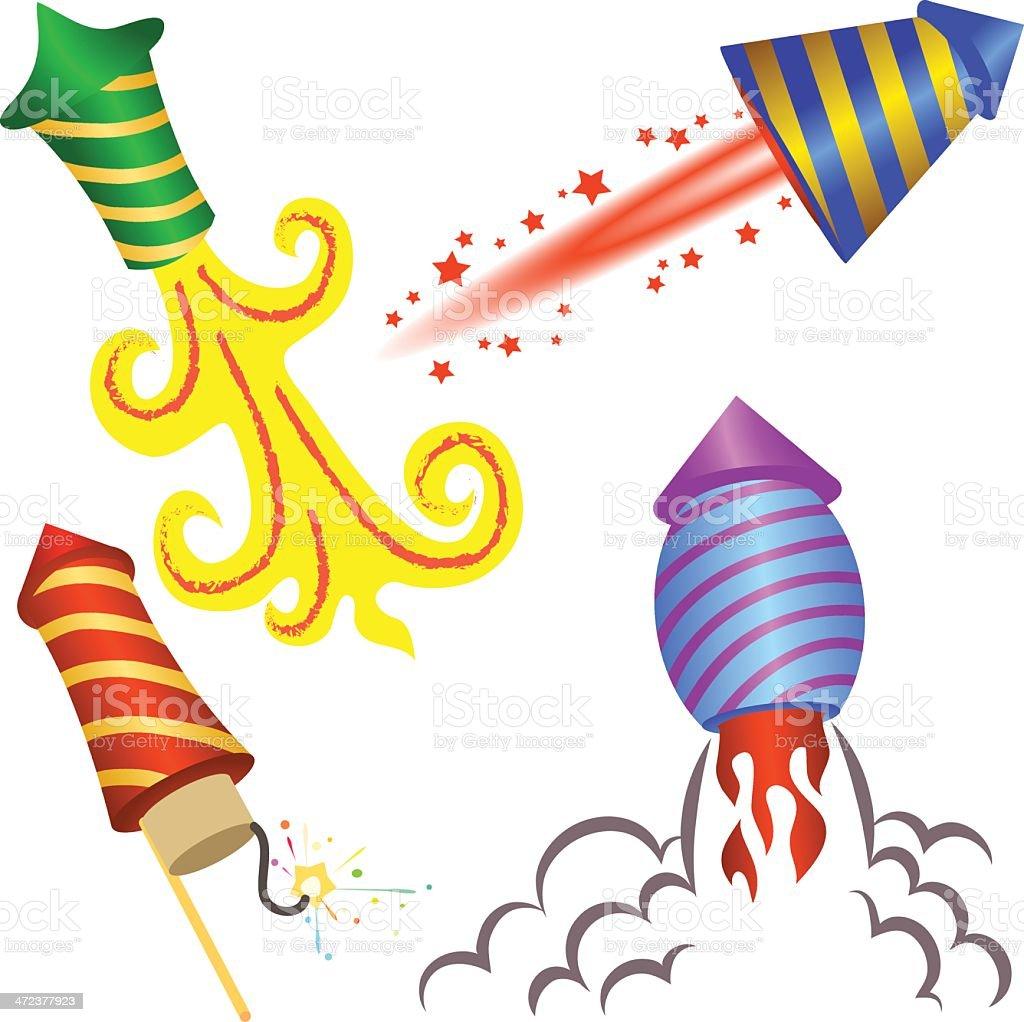 Fireworks rockets royalty-free stock vector art