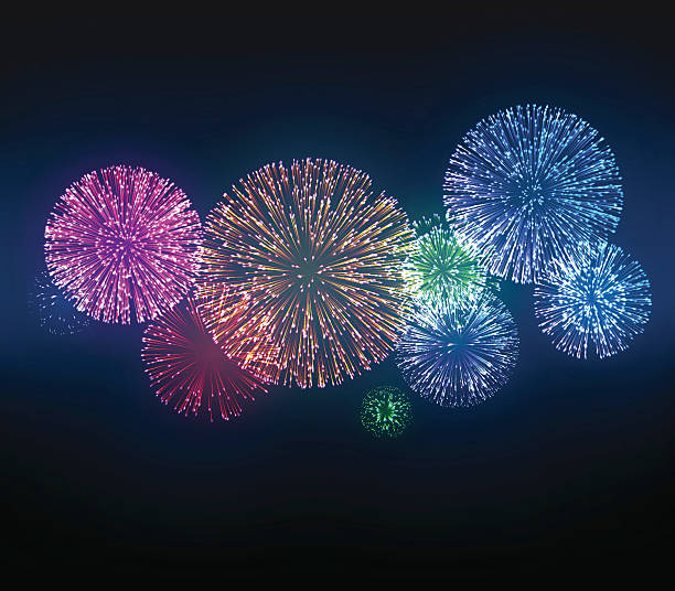 фейерверки  - fireworks stock illustrations
