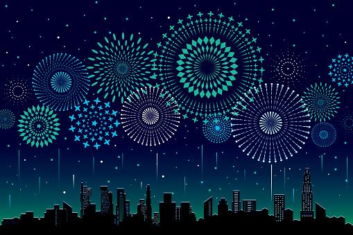 Firework and sparkler stock illustrations