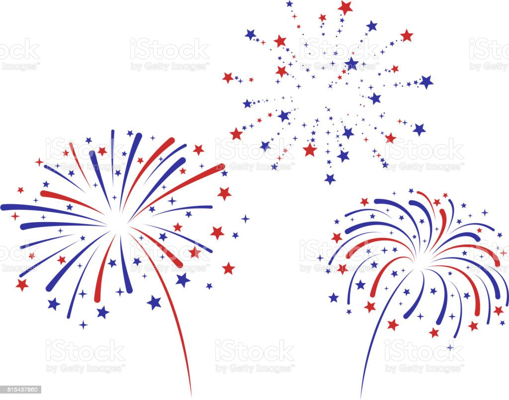 Fireworks american flag concept fireworks American Culture stock vector