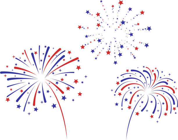 Fireworks american flag concept fireworks independence day illustrations stock illustrations