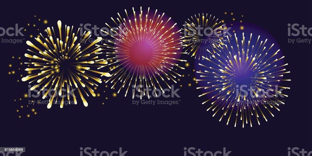 Feuerwerk – Vektorgrafik