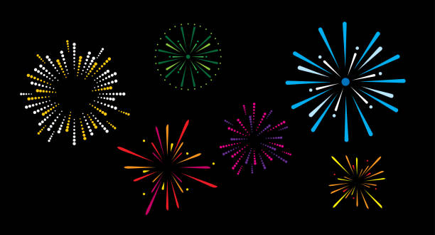 fireworks - fireworks stock illustrations