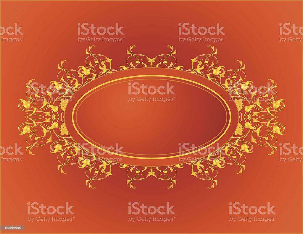 Firey Oval royalty-free stock vector art