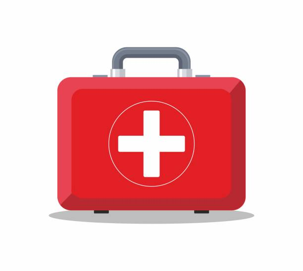 first aid box on white background. - first aid stock illustrations