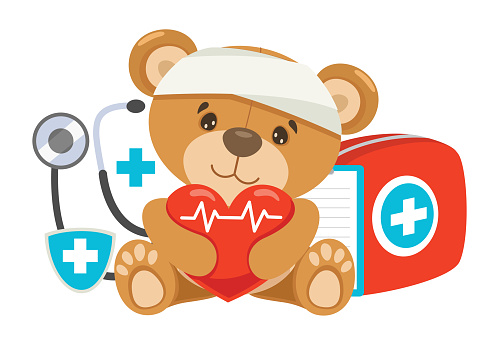 CPR First Aid Concept For Children