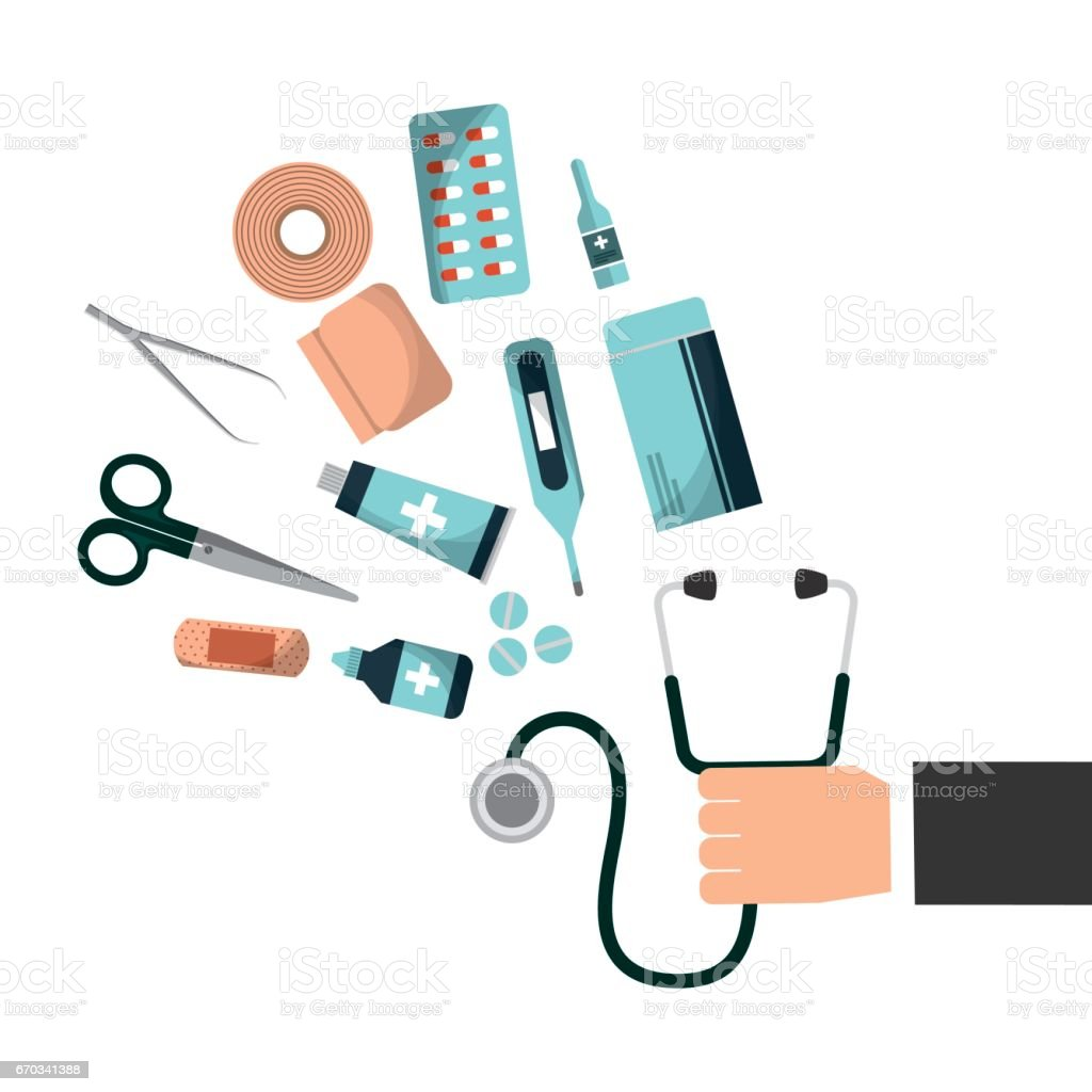 first aid design vector art illustration