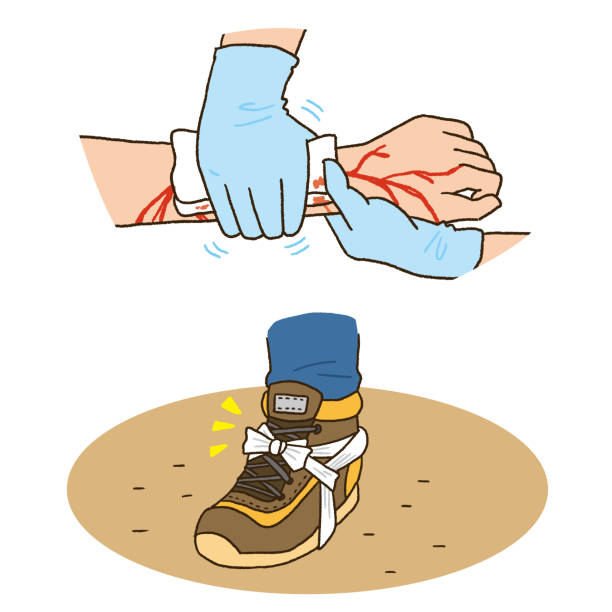 First aid for injury vector art illustration