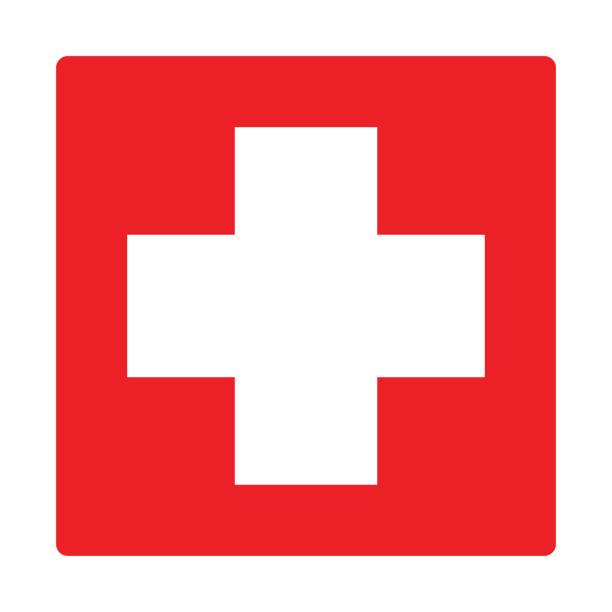 first aid icon isolated vector - first aid stock illustrations, clip art, cartoons, & icons