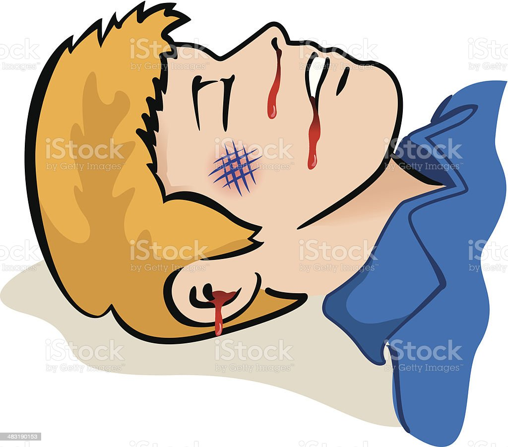 First Aid injuries royalty-free stock vector art