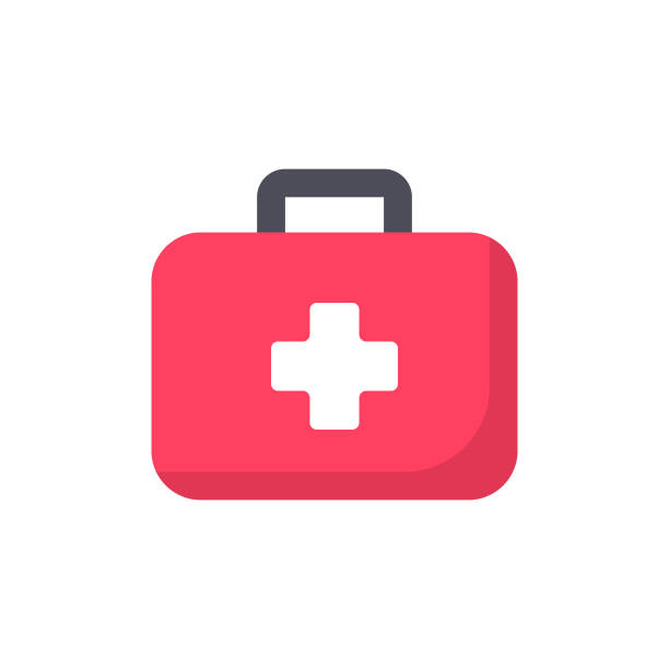 First Aid Kit Flat Icon. Pixel Perfect. For Mobile and Web. First Aid Kit Flat Icon. aspirin stock illustrations