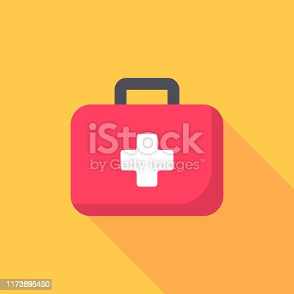 First Aid Kit Flat Icon.