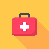 istock First Aid Kit Flat Icon. Pixel Perfect. For Mobile and Web. 1173895450