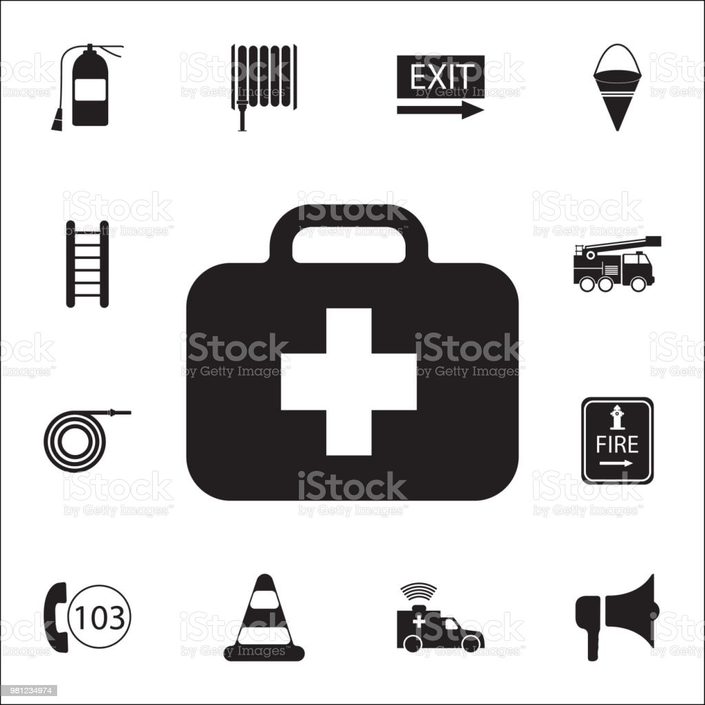 first aid kit icon. Detailed set of fire guard icons. Premium quality graphic design sign. One of the collection icons for websites, web design, mobile app vector art illustration