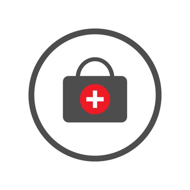 Royalty Free Life Saver Icon On White Round Vector Button Clip Art