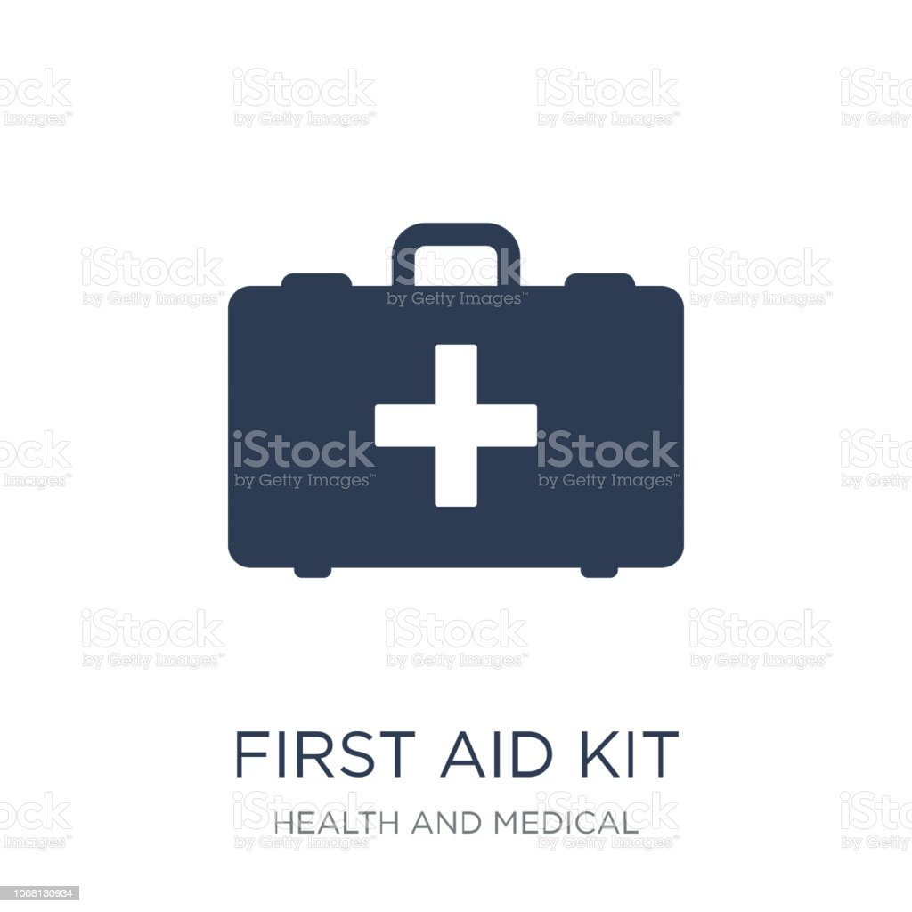First aid kit icon. Trendy flat vector First aid kit icon on white background from Health and Medical collection vector art illustration