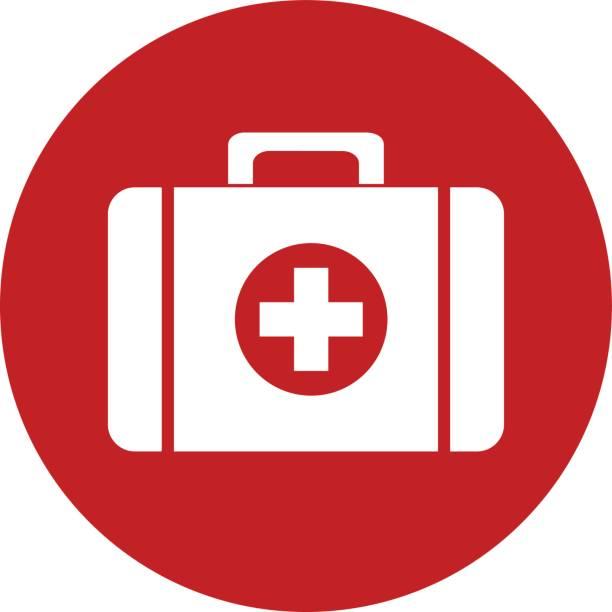 first aid kit icon vector design - пищевая цепь stock illustrations