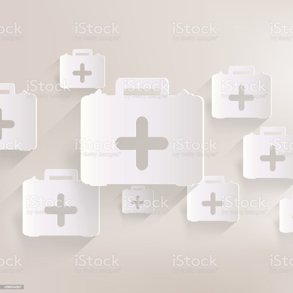 first aid kit icon royalty-free stock vector art