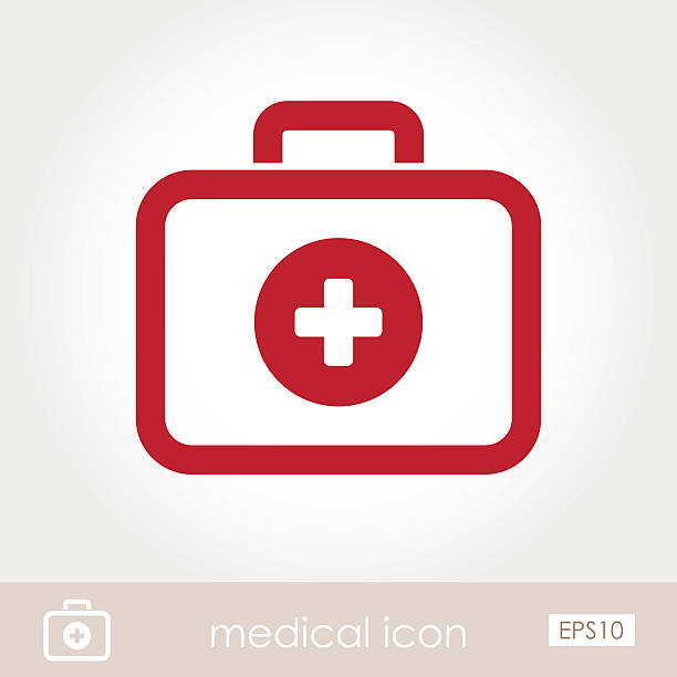 first aid kit icon - first aid stock illustrations, clip art, cartoons, & icons