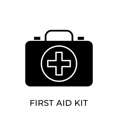 First Aid Kit icon vector illustration. Medical First Aid Kit vector illustration template. First Aid Kit vector icon flat design for website, logo, sign, symbol, app, UI.
