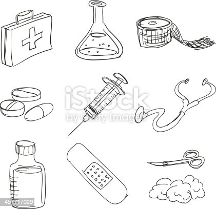First Aid Kit In Sketch Style Stock Vector Art & More