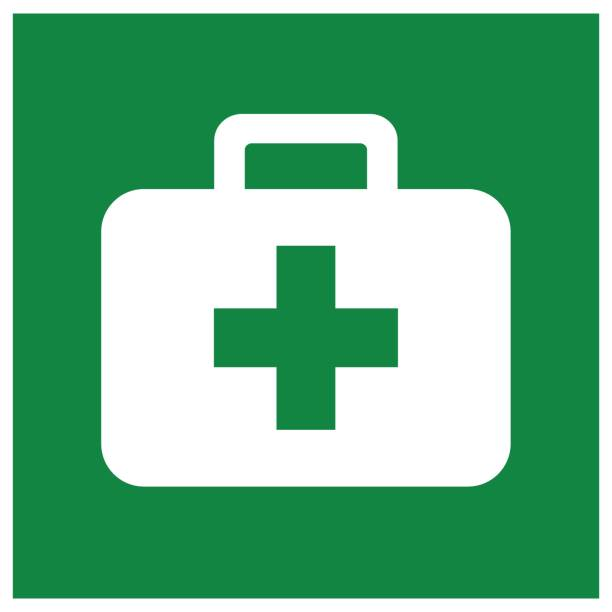First Aid Kit Symbol Sign, Vector Illustration, Isolated On White Background Label .EPS10 vector art illustration