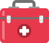First aid kit vector cartoon illustration
