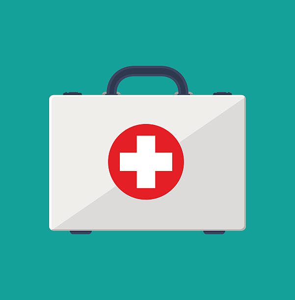 first aid kit - first aid stock illustrations, clip art, cartoons, & icons