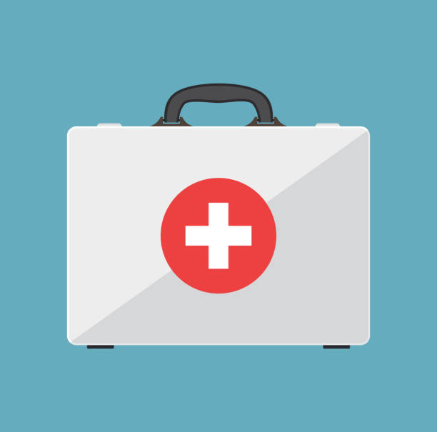 first aid kit. - first aid stock illustrations, clip art, cartoons, & icons