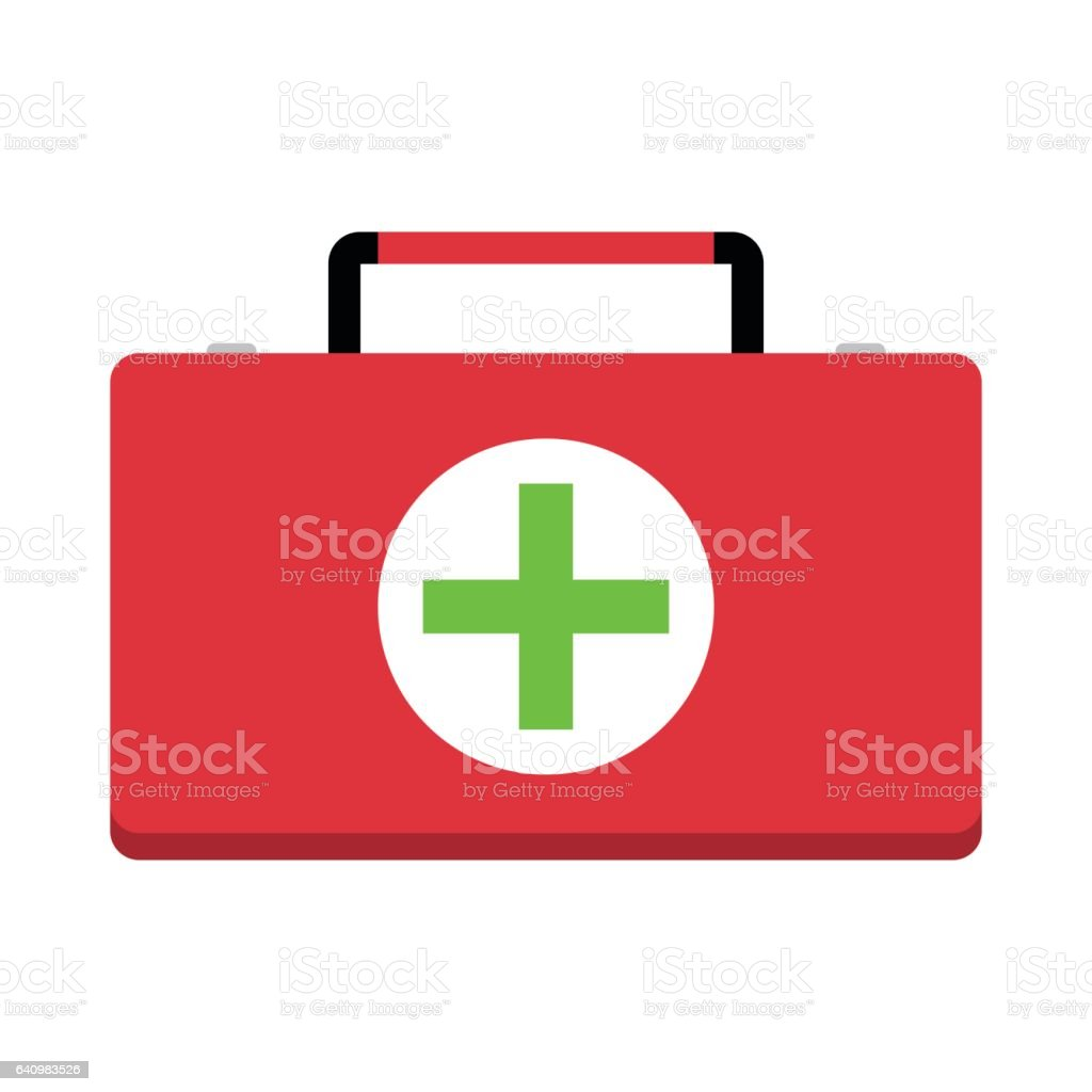 First aid kit vector vector art illustration